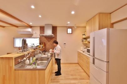 豊川市リノベーション後キッチン