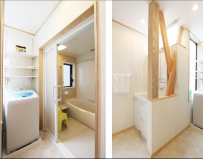 豊川市洗面・浴室リフォーム後