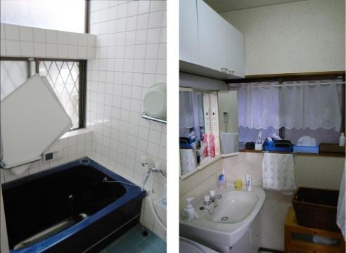 豊川市洗面・浴室リフォーム前